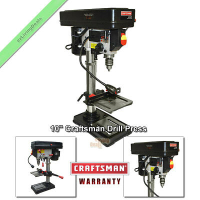 "10"" Craftsman Drill Press Laser Benchtop 1/2 HP Bench Top Adjustable Presses"