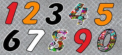 Numeros Course Racing Numbers Bomb Drift Tuning Autocollant Sticker (Nu003)