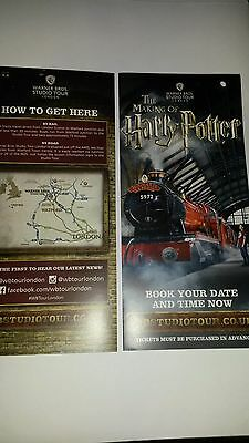Harry Potter Wbstudio  London Leaflet Flyer Put With Tickets Makes A Great Gift