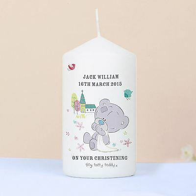 Me to You Personalised Christening Candle Baby Gift - Tiny Tatty Teddy