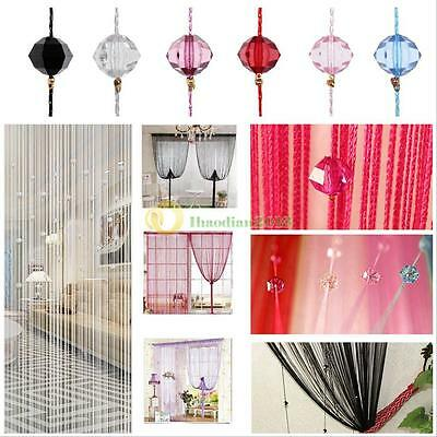Room Door Window Beads Crystal String Curtain Beads Wall Panel Fringe Divider