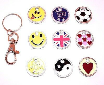 £1 Pound Coin Shopping Trolley Token Keyring Locker Shopping Trolley Keyring