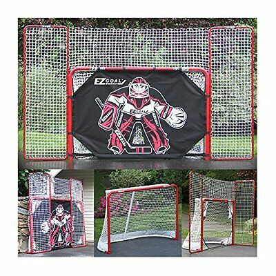 EZGoal Hockey Folding Goal with Backstop, Shooter Tutor and Targets, 2-Inch