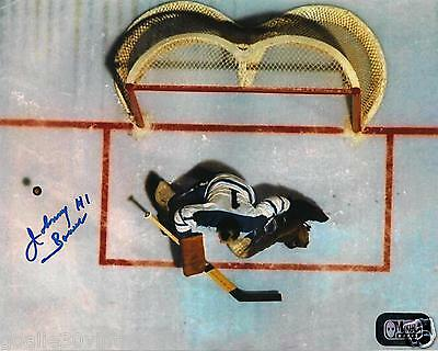 """Johnny Bower Overhead Shot 8"""" by 10"""" Autographed  Photograph (Facing Out)"""