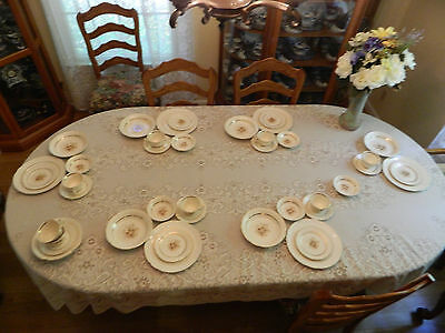 American Limoges Sundale R-132 China Service for 6 22 KT Gold