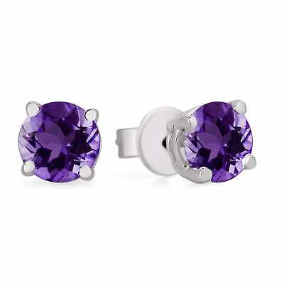 0.25 Ct Round Brilliant Cut Screwback Basket Stud Earrings Solid 14K White Gold