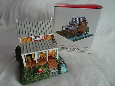 Liberty Falls~Murray's Grist Mill~ Christmas Western Village Figurine  Ah210