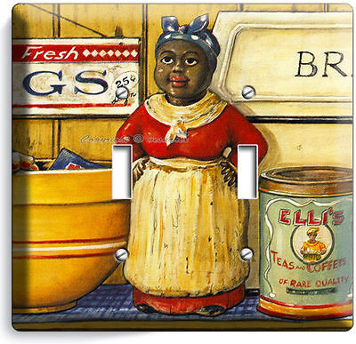 Aunt Jemima Kitchen Dining Room Vintage Retro Art Double Light Switch Wall Plate