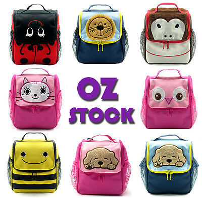 Cute Kids Animal Cartoon Insulated Lunch Bag Backpack Girl Boy Picnic Bags