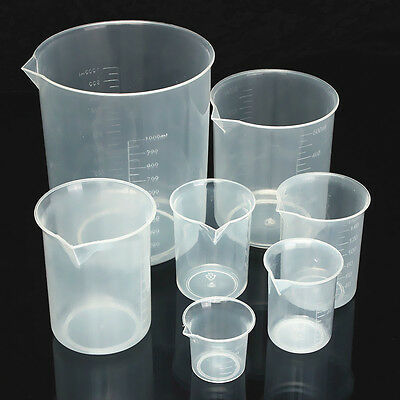 25-1000ML Plastic Lab Kitchen Measuring Graduated Beaker Cup Container Gadgets