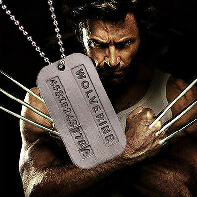X-Men Wolverine James Logan Army Military Metal Pendant Chain Dog Tag Necklaces