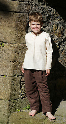 Medieval-LARP-Re enactment-Viking CHILDS SLIT NECK SHIRT/TROUSERS SET All Sizes