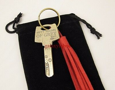 50 Fifty Shades of GREY KEY chain lob props Christian Red Room
