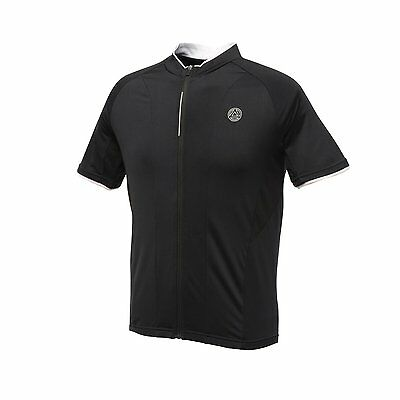 Dare 2b Black Emanate Short Sleeve Mens Full Zip Cycling Jersery T-Shirt Top