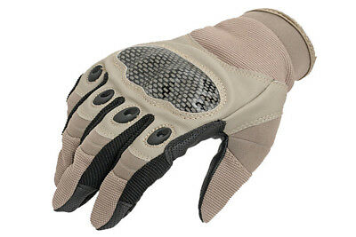 Fields Hard X Tactical Gloves Tan Knuckle Protection Airsoft Biking Gloves