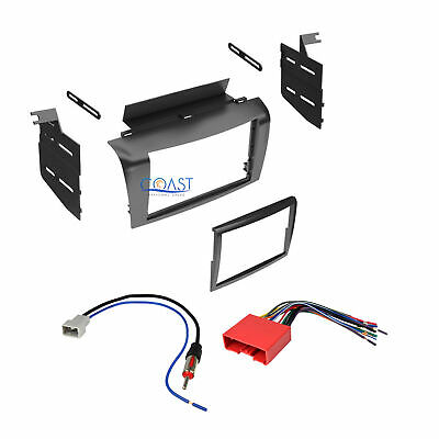 Double DIN Install Stereo Dash Kit + Harness + Antenna for 2004-2009 Mazda 3