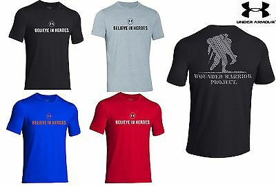 Under Armour Believe In Heroes Wounded Warrior T Shirt Mens Ua