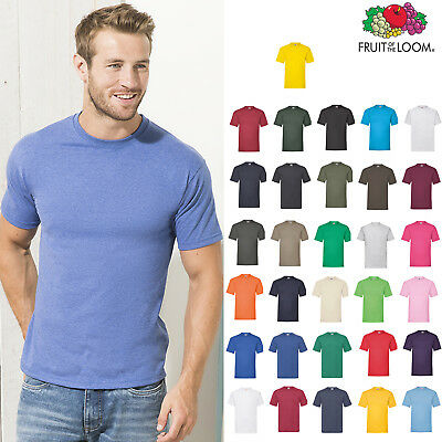 Wholesale fruit of the loom cotton T-shirts tees t black white colours 100 50 10