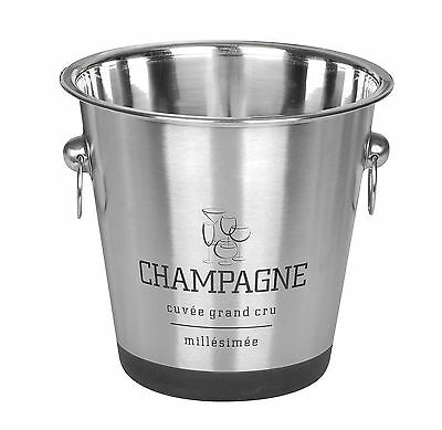 Stainless Steel Silver Champagne Bucket Wine Drink Ice Cooler