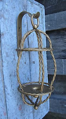 Vintage Mid Century Wrapped Wire Taper Candle Holder Home & Garden Wall Sconce