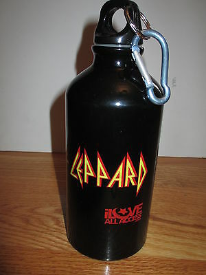 """I LOVE ALL ACCESS DEF LEPPARD Glass Drinking 7.5"""" Bottle"""