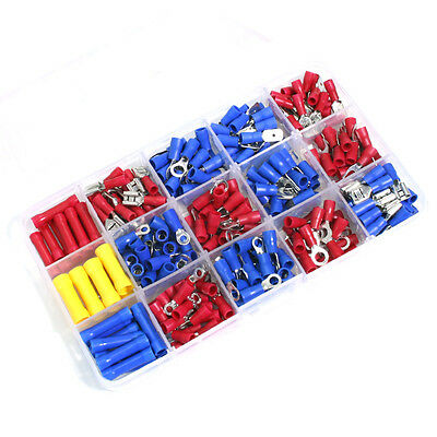 AU Assorted Insulated Crimp Terminals Set Electrical Wiring Connector Kit 293pcs