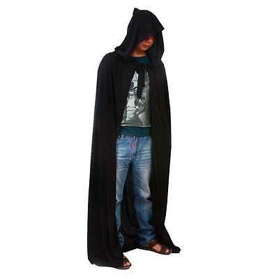 Black Cashmere Blend Cloak Lord Of The Rings LOTR Pagan Halloween Costume Cape