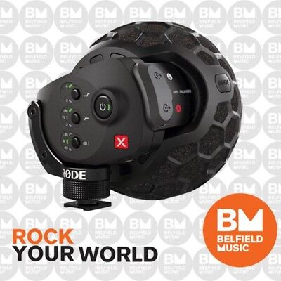 Rode Stereo VideoMic X Broadcast On-Camera Microphone w/ Popshield Video Mic