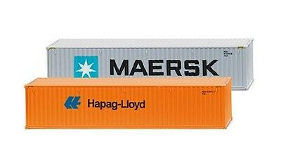 "Zubehörpackung - 40' Container ""Maersk"" & ""Hapag Lloyd"" Wiking 001813 H0 Modell"