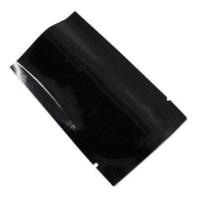 Black Aluminum Foil Heat Seal Food Storage Packaging Bag Mylar Vacuum Pouches