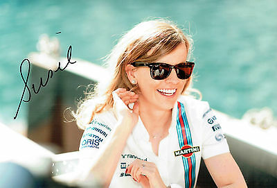 Susie WOLFF Signed Autograph 12x8 Photo AFTAL COA Williams Racing Driver