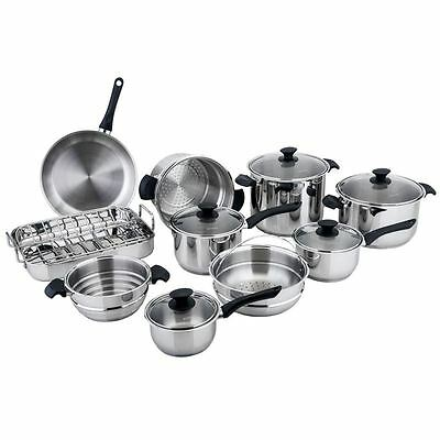 Benzer - Rosti 10pc GIANT Cookware Set 18/10 Stainless Steel