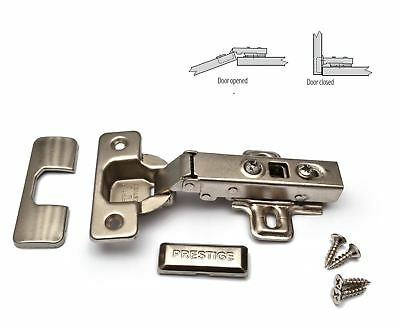 50 x GTV PRESTIGE SOFT CLOSE 35mm KITCHEN CABINET DOOR HINGE PLATE & SCREWS
