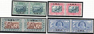 1938 South West Africa - Sg 105/108  Mlh/*