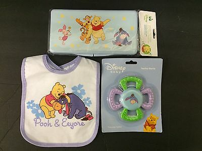 Disney Eeyore  Wipes Case, Bib & Teether