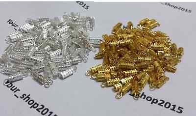 30 x Gold & Silver Plated Barrel Screw In Clasps Jewellery Craft Findings 15mm