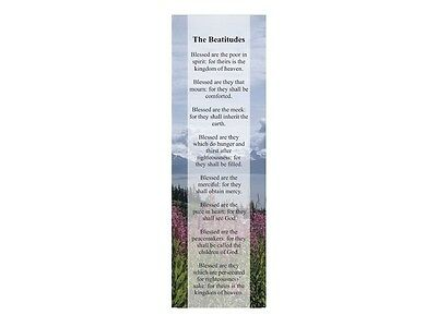 THE BEATITUDES (25) Bookmarks Christian Religious Words of Jesus Scripture