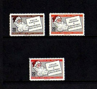 Peru - 1969 - Christmas - Santa Claus & Letter - Mint - Mnh - Set!
