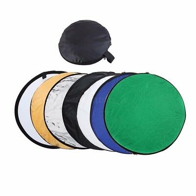 "110cm 43"" 7 in 1 Photography Studio Disc Collapsible Photo Light Reflector"