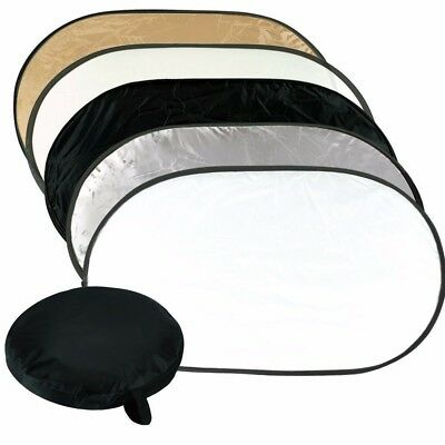 """130x180cm 51x71"""" 5in1 Photography Studio Disc Collapsible Photo Light Reflector"""