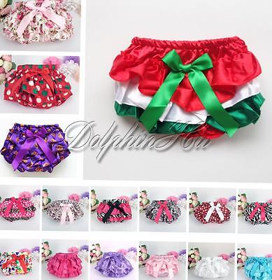Toddler Baby Infant Girls Ruffle Bloomers Nappy Panties Cover Diaper Dress 3-24M