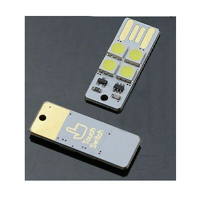 2pcs 4LED Night Light Lamp Mini USB Touch Switch s480