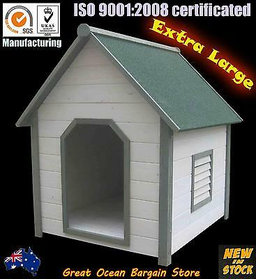 Timber Dog Kennel Wooden Pet House Solid Wood XX-Large Dog Cabin In Door Outdoor