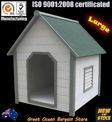 Timber Dog Kennel Wooden Pet House Solid Wood Extra Large Dog Cabin Air Vent