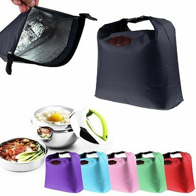 Thermal Insulated Cooler Waterproof Lunch Tote Storage Picnic Pouch Bag F77