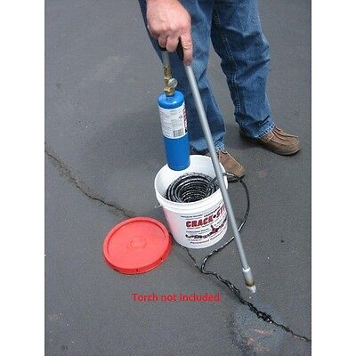 125 ft  Black Permanent Asphalt/Concrete Driveway/Blacktop Crack Filler Repair