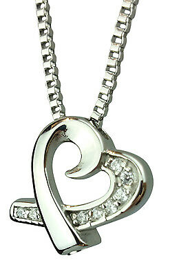 Cremation Jewellery Ashes Memorial Pendant Keepsake Urn - Together Heart