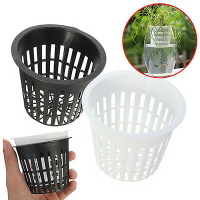 "3"" Mesh Pot Net Basket Hydroponic Aeroponic Flower Container Plant Grow Pot Cup"