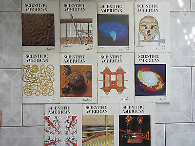 Almost Full Year 11 Issues 1979 Scientific American Magazine