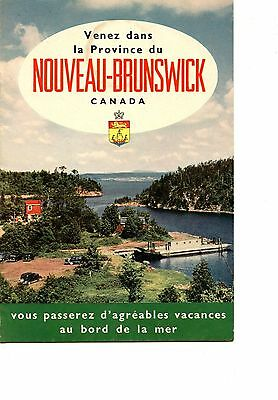 Old NEW BRUNSWICK tourist booklet in french